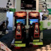 Custom Branded Arcade Racing Game for Tradeshow